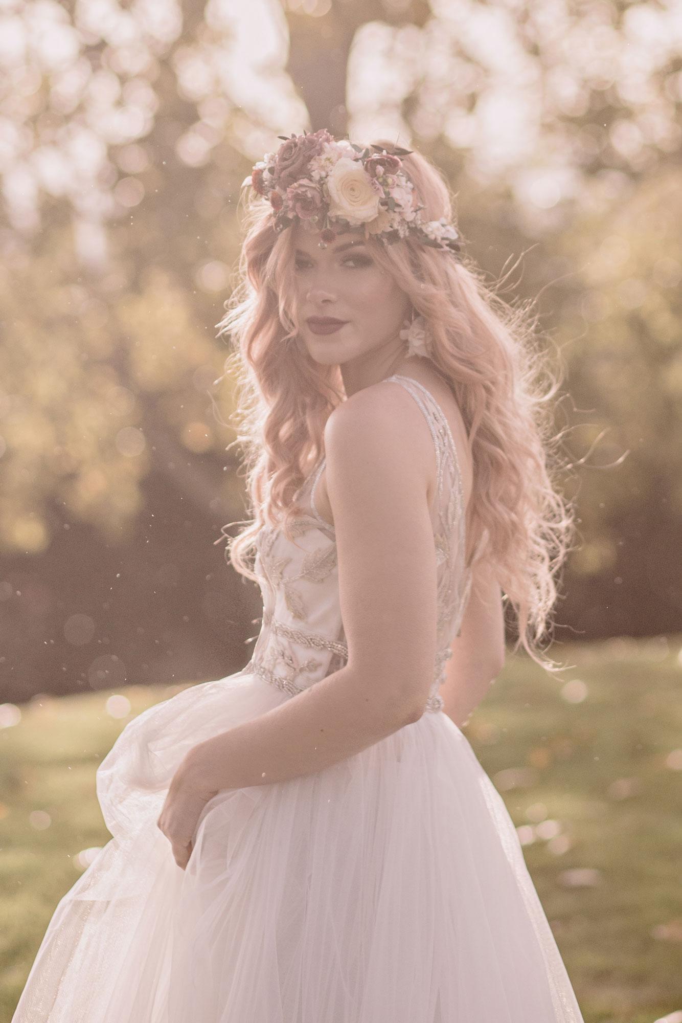 flower crown bride kent wedding venue