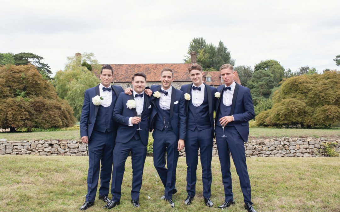 nettlestead place wedding photo groomsmen