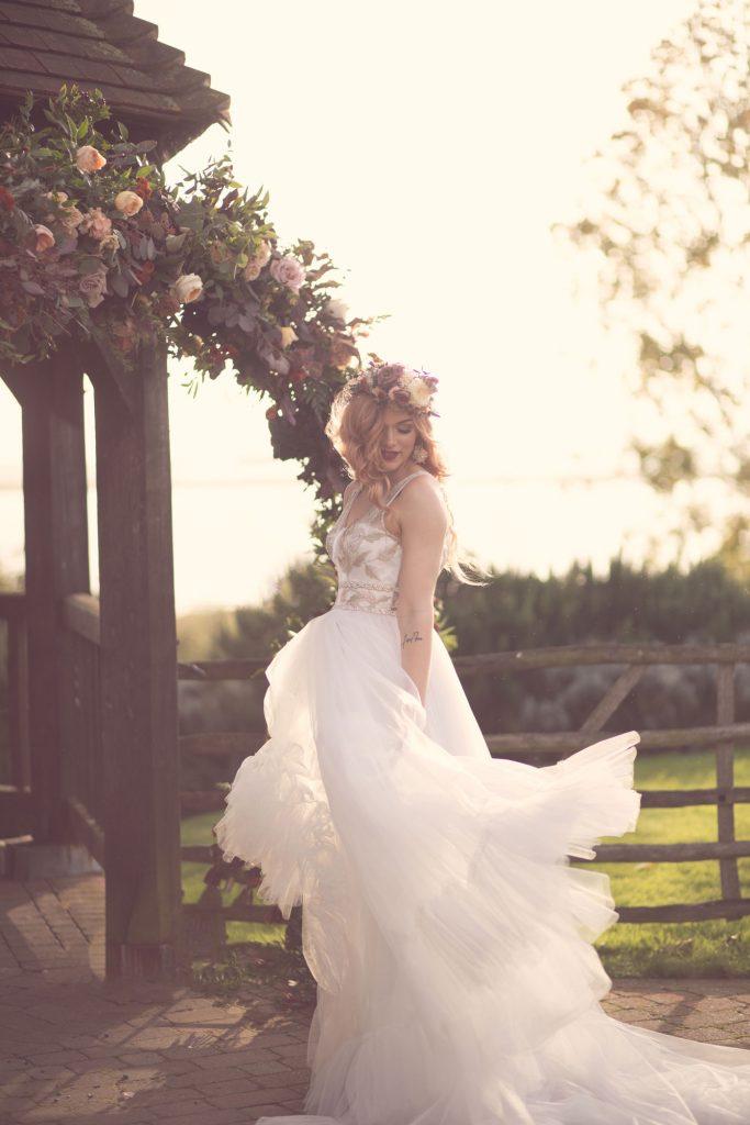 ferry house inn bride with flower crown