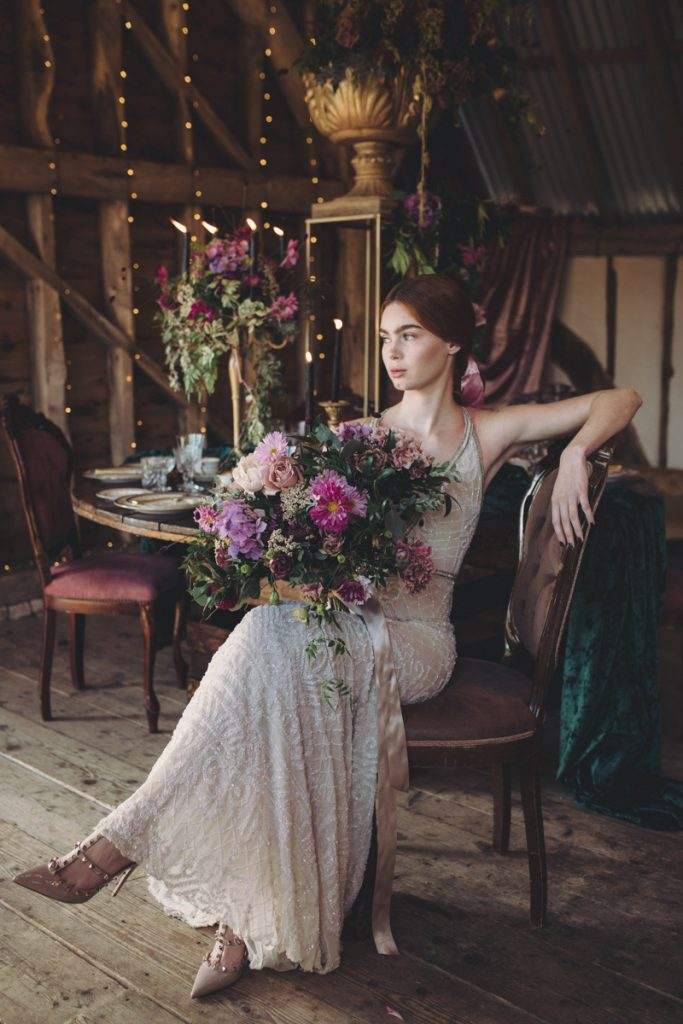 luxe bridal look kent barn wedding