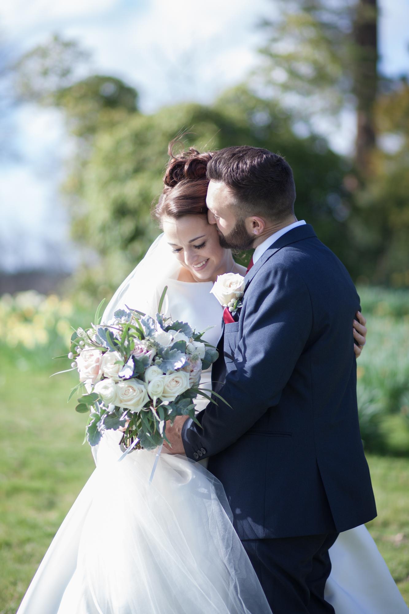 buxted park bride groom springtime