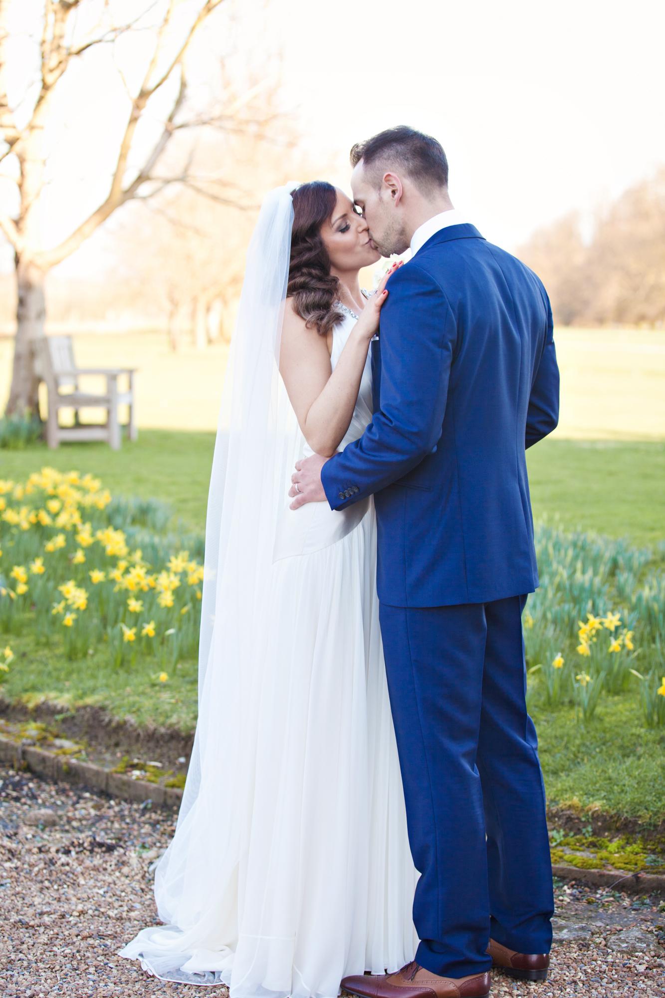 chilston park spring wedding photo