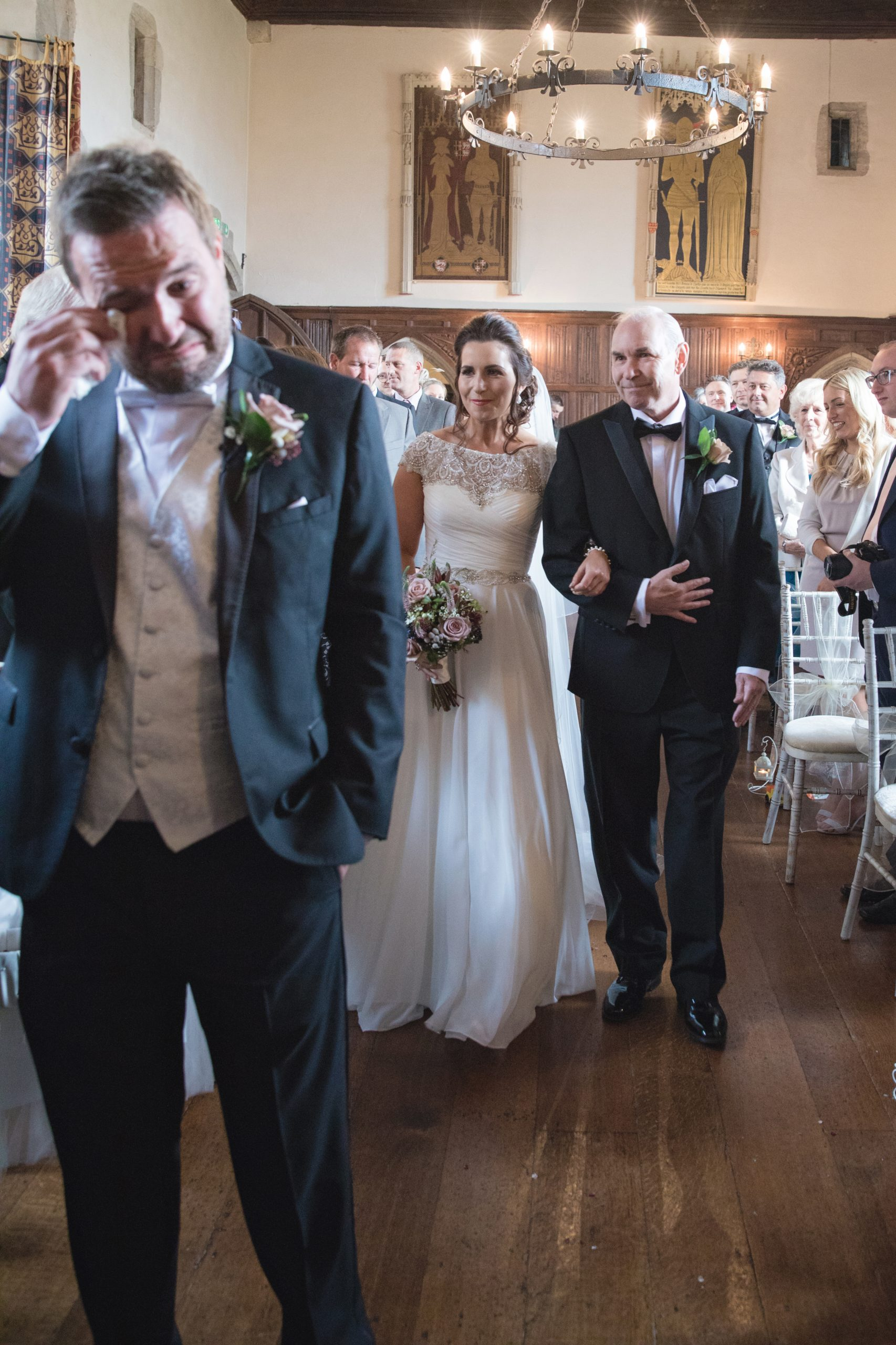 lympne castle kent wedding photographer aisle