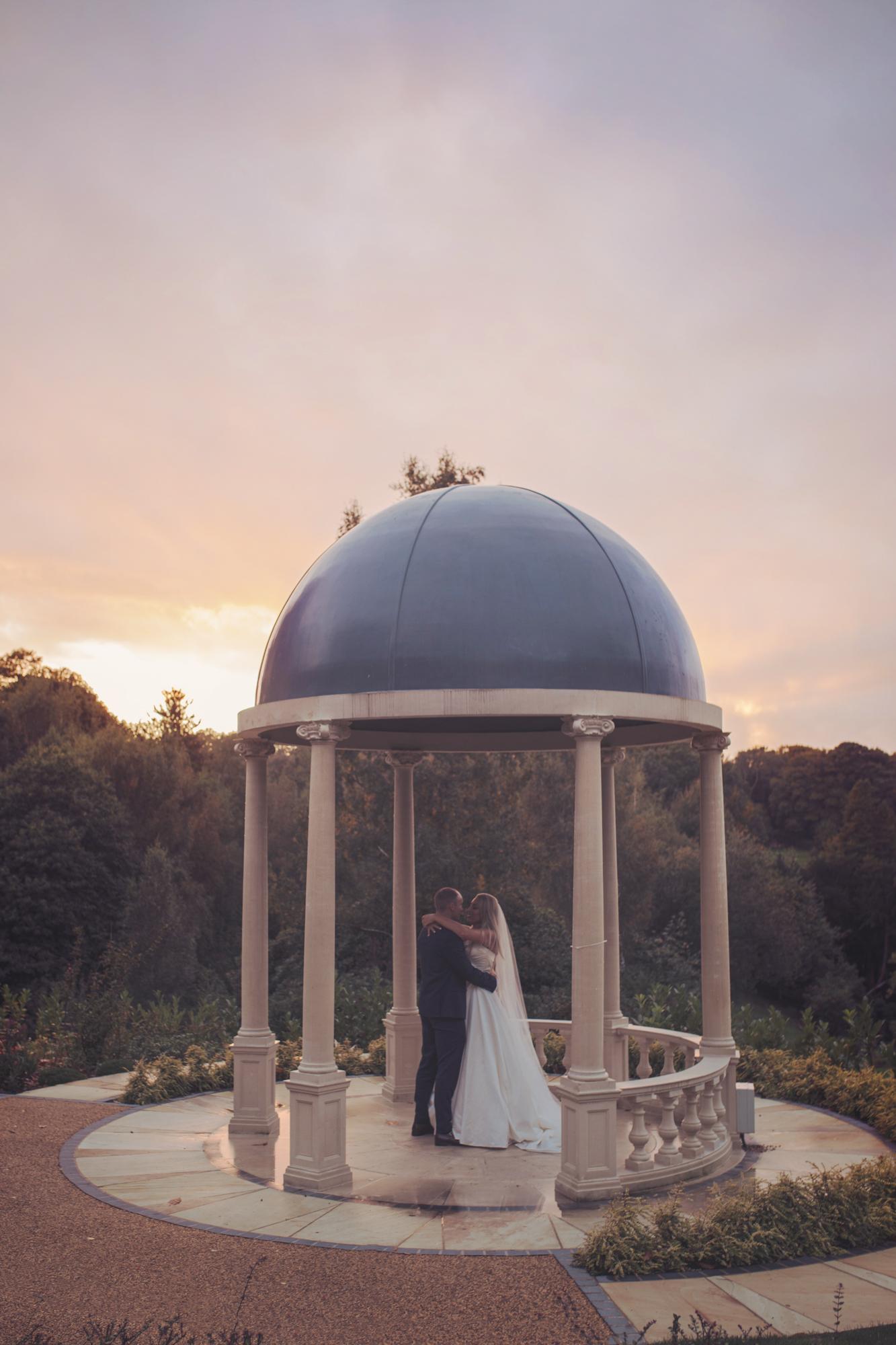 spa hotel wedding sunset