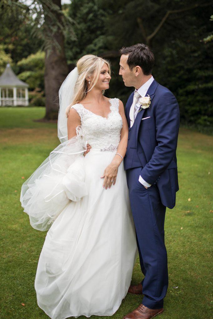 orangery kent wedding couple