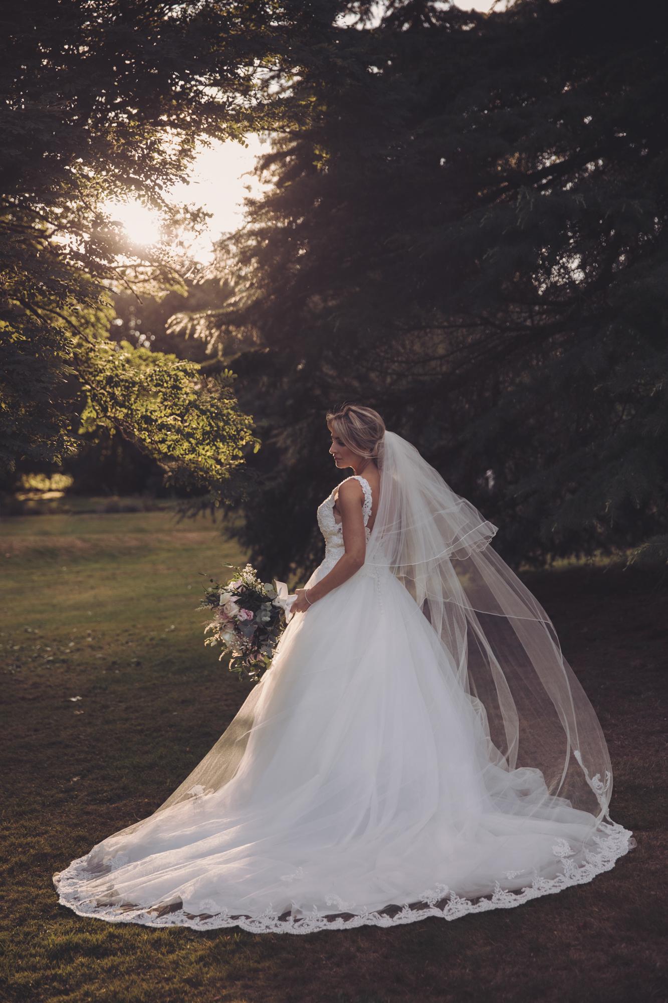 bridal portrait rowhill grange kent