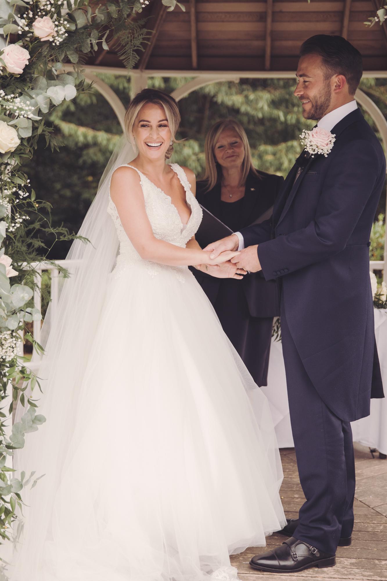 rowhill grange wedding ceremony kent photographer