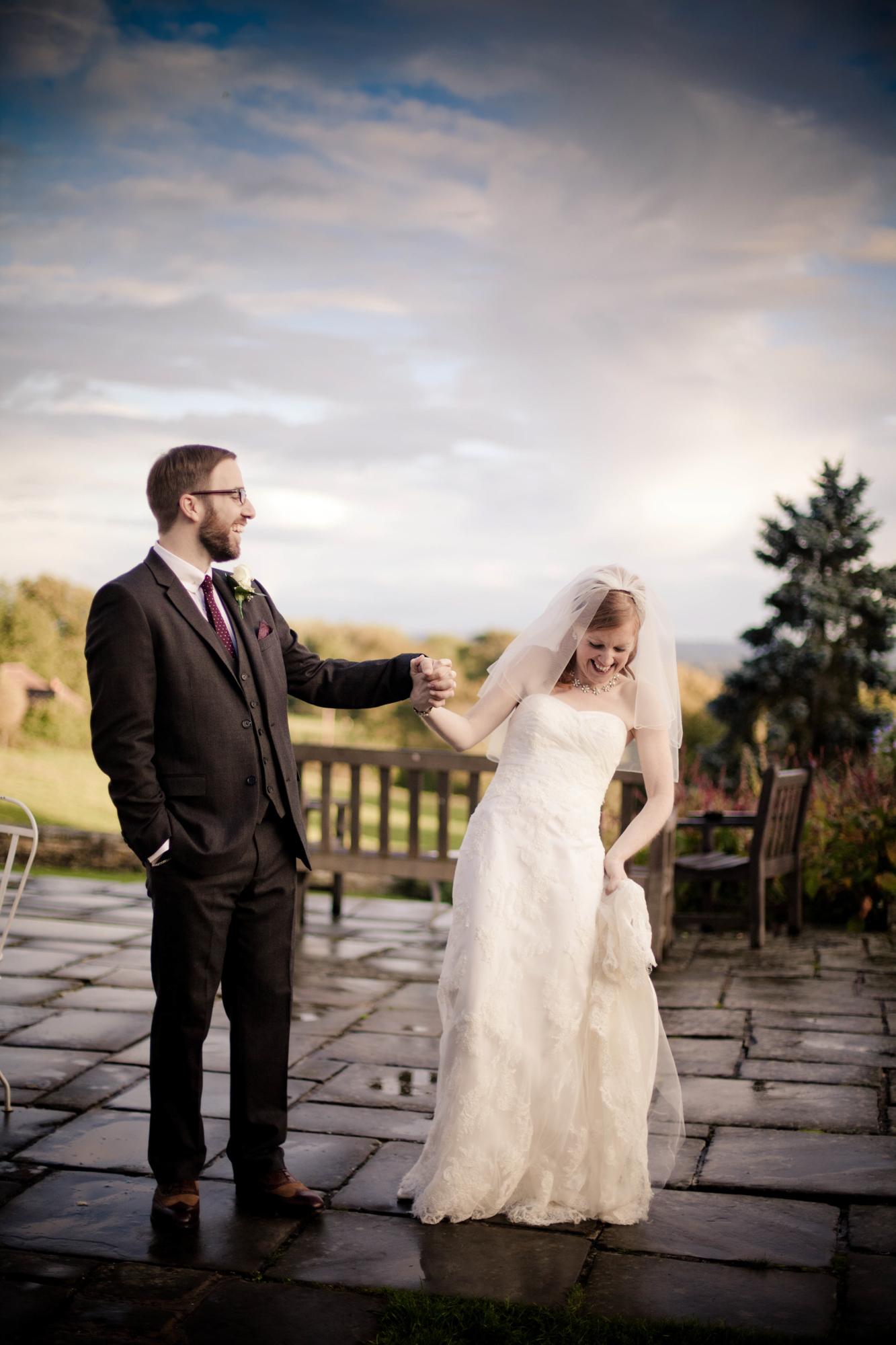 st julians club bride and groom