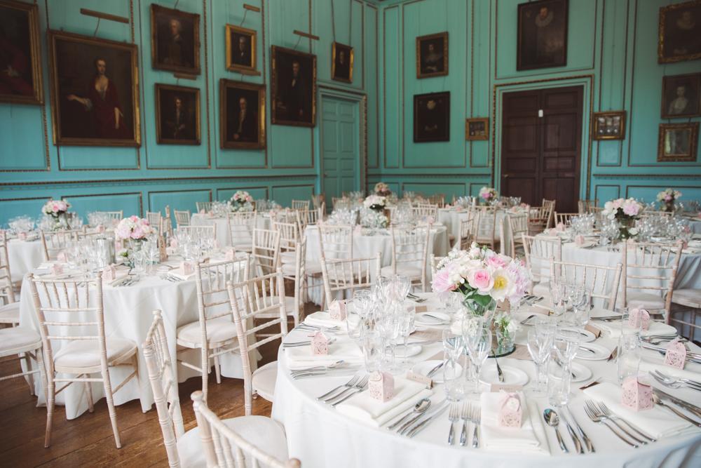 bradbourne house wedding dining room