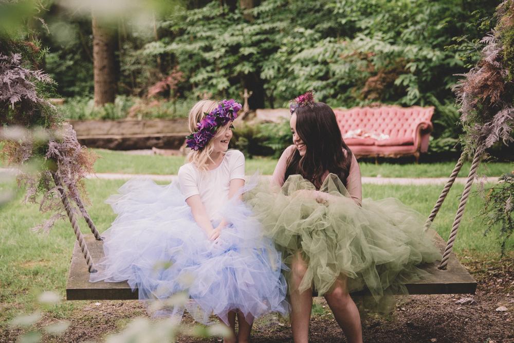 longton wood flower girls