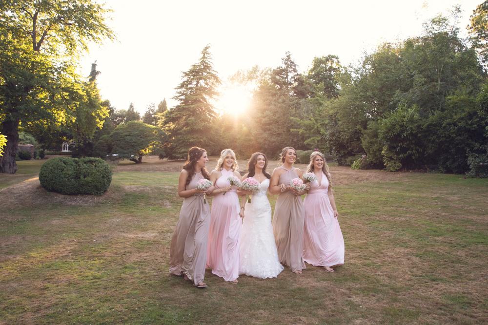 bridesmaids at rowhill grange