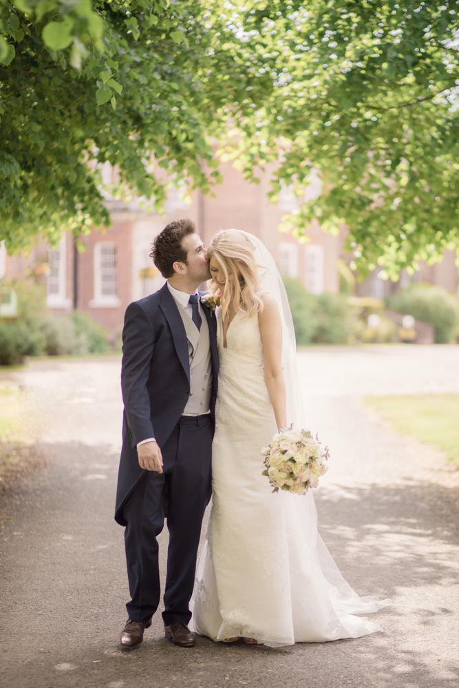chilston park wedding couple