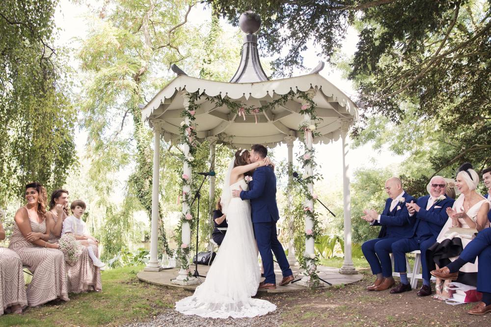 preston court island wedding ceremony