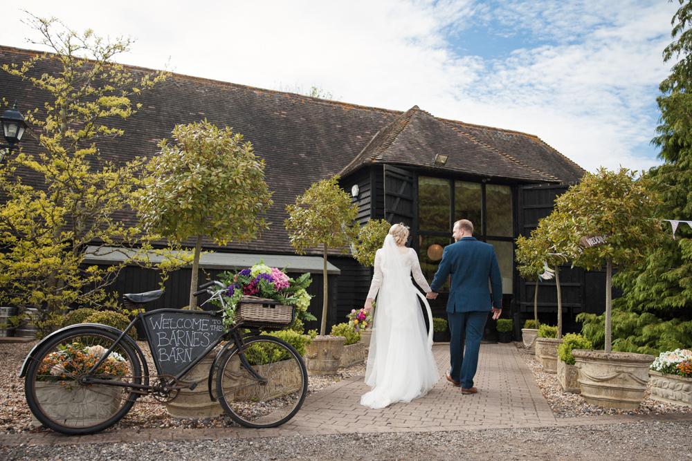 winters barns wedding entrance
