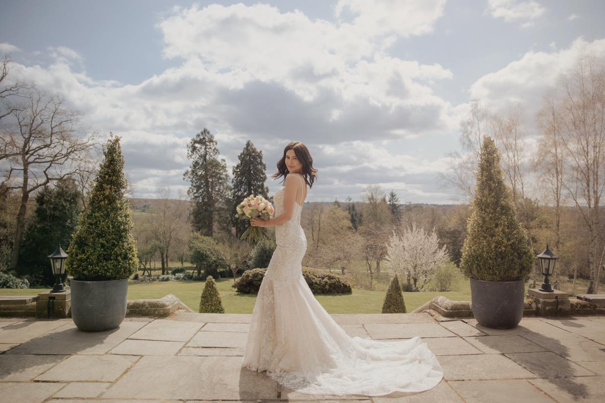 bride at salomons estate