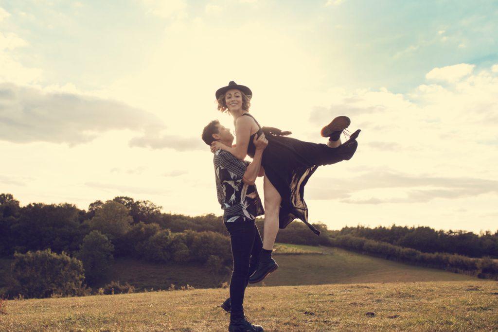 dancers engagement shoot