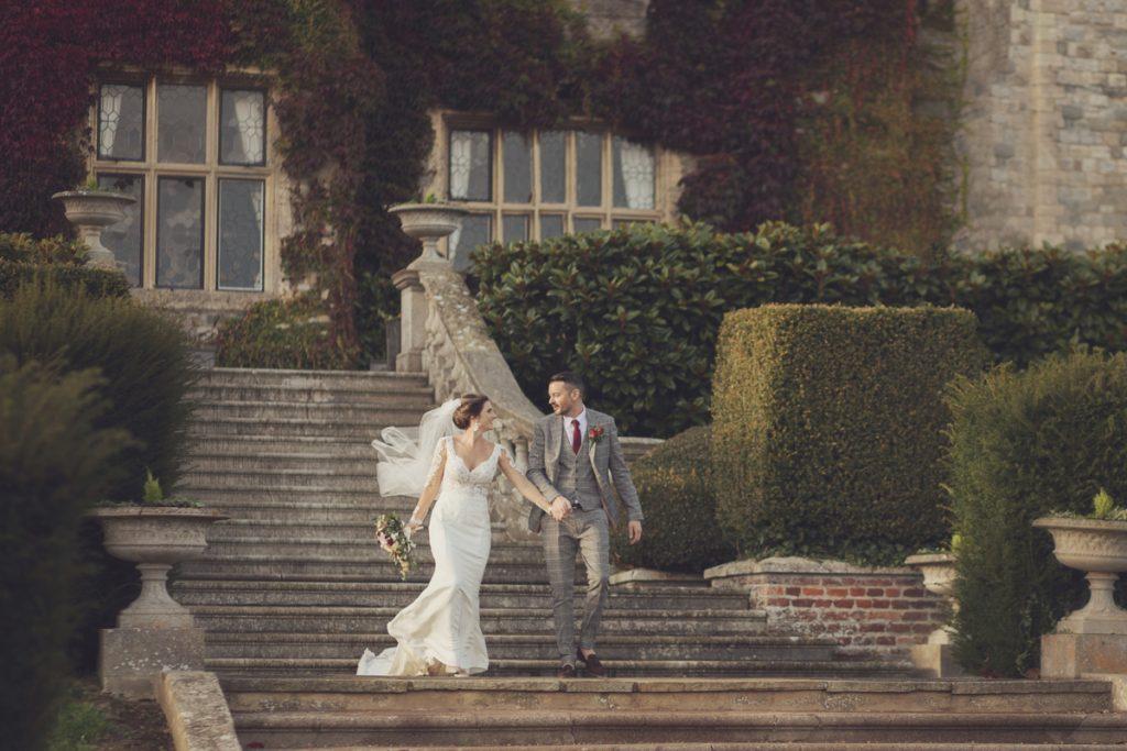 eastwell manor wedding couple