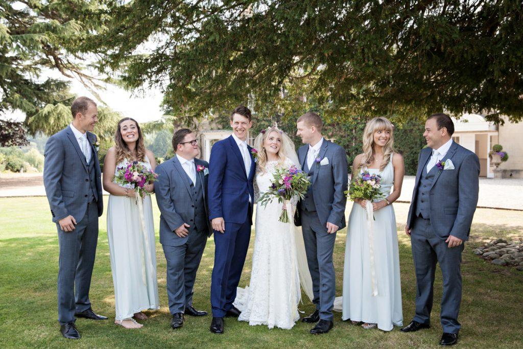 natural bridal party photo northbrook park