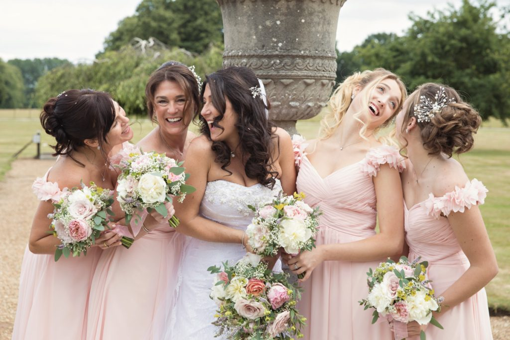 fun bridesmaids photo chilston park