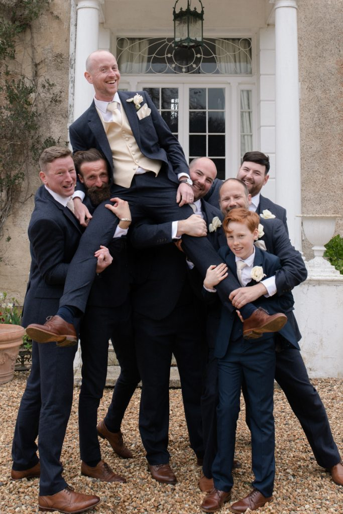 fun groomsmen photo preston court