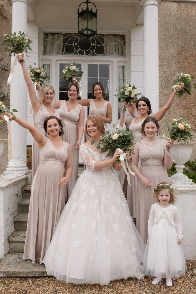 fun bridesmaids photo preston court