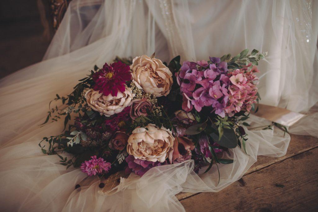 jewel colour wedding bouquet