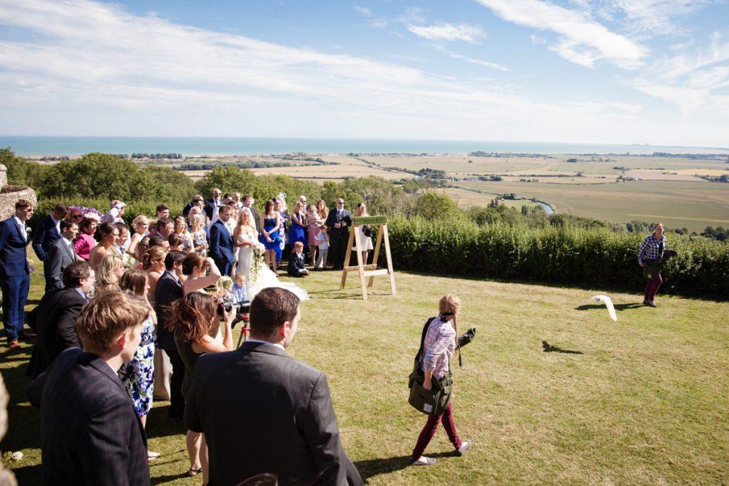 falconry lympne castle wedding