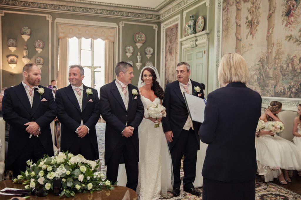 wedding ceremony at leeds castle