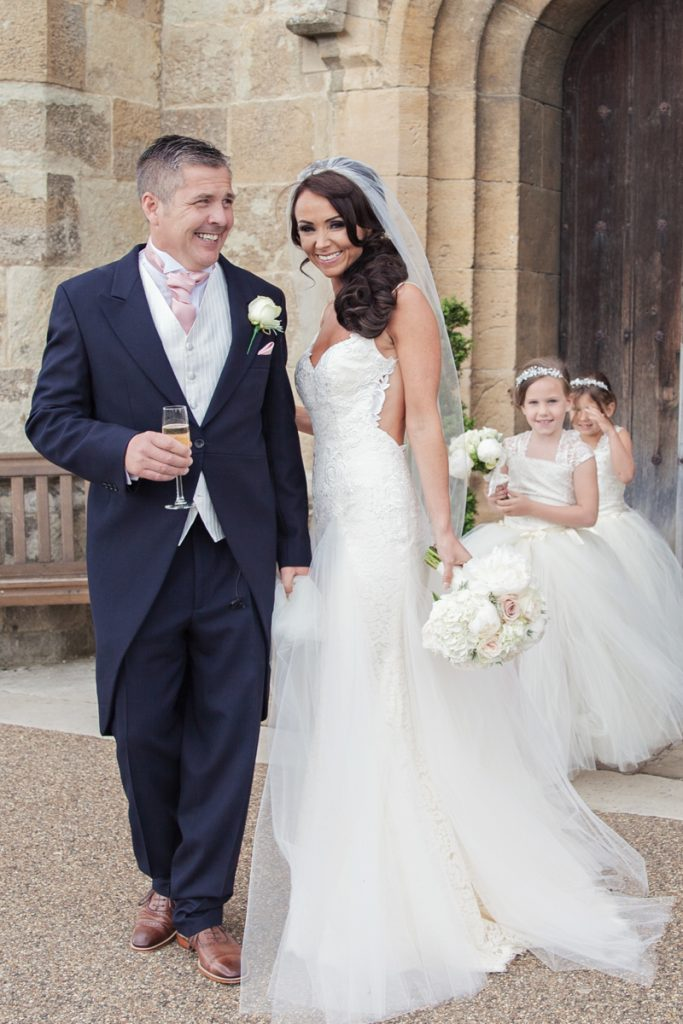 bride and groom just married leeds castle