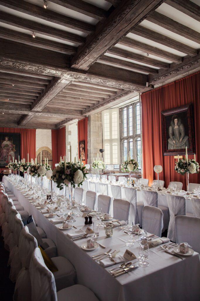 banquet hall at leeds castle