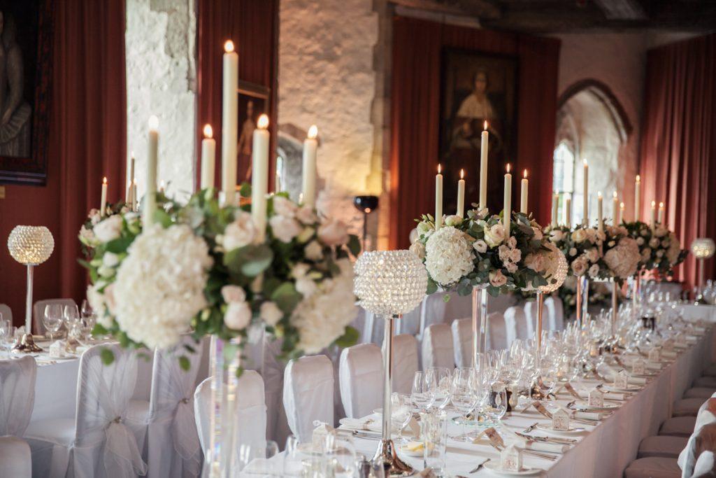 luxury table settings leeds castle