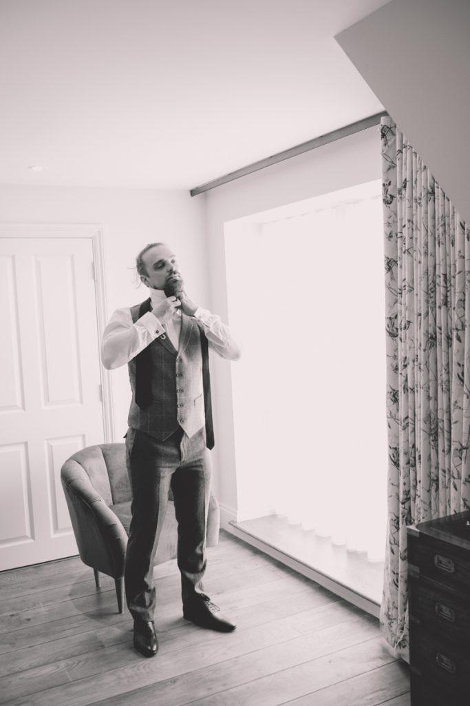 groom wedding prep