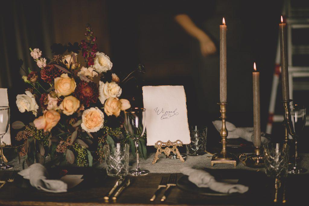 autumn luxury wedding table setting